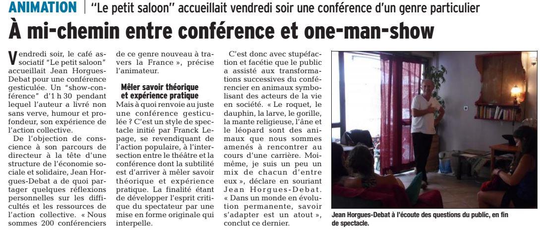 Conférence gesticulée